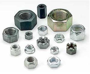 slotted hex nuts, nylon insert lock nuts